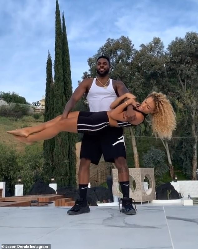 Jason Derulo Reportedly Dating Manchester United Player Jesse Lingard's Ex-Girlfriend, Jena Frumes, With The Two Self-Isolating Together In LA (Photos) 4