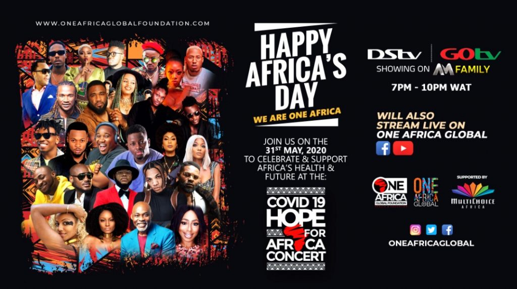 2Baba, Tiwa Savage, Davido, Falz, Flavor, Tekno, and Others Join Star-Studded Line Up For COVID-19 Hope For Africa Concert