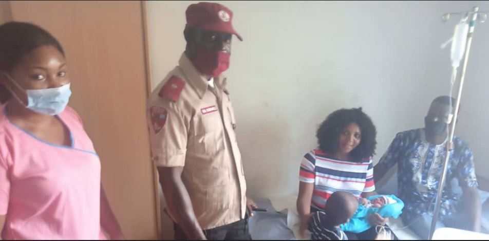 FRSC Rescues Pregnant Woman In Labour Struggling To Drive Herself To Hospital