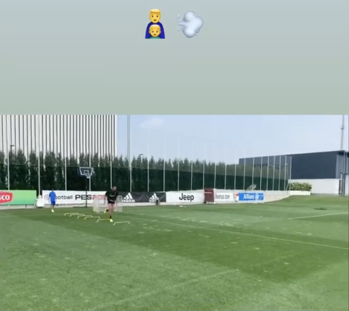 Cristiano Ronaldo Jr Joins His Father In Juventus Training