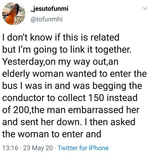 Lady Narrates How She Got 20k From A Stranger After She Helped A Needy Woman With 200 Naira