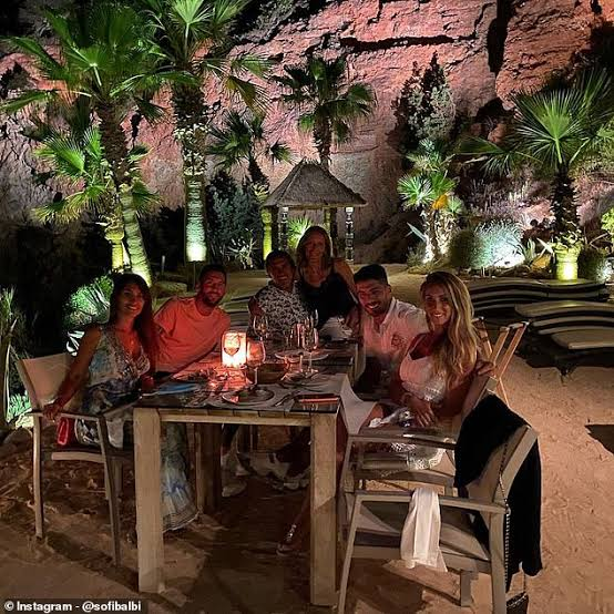 Luis Suarez And Lionel Messi Enjoy Dinner With Their Wives As Barcelona Stars Continue Ibiza Holiday