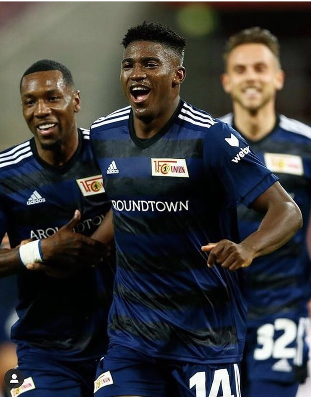 Nigerian Striker Celebrates First Goal For German Club