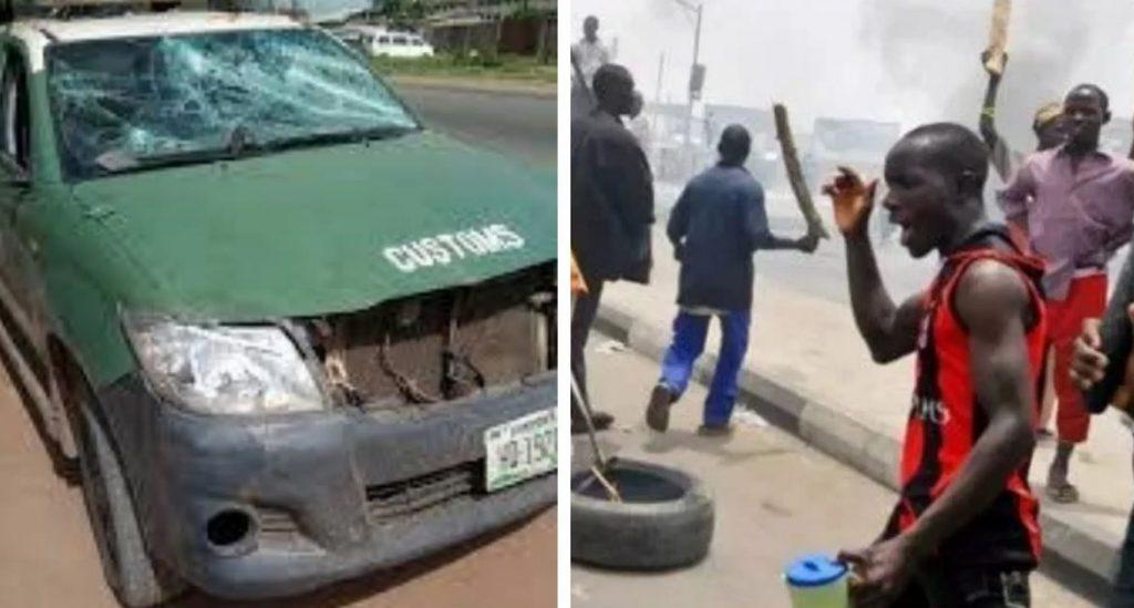 Tension As Hoodlums Attack Customs Officers In Ogun