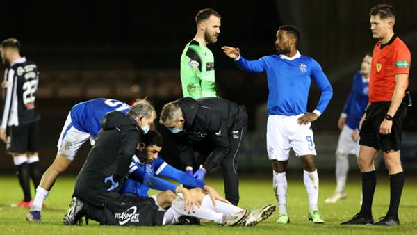 Balogun To Be Analysed After Head Injury In Rangers Loss