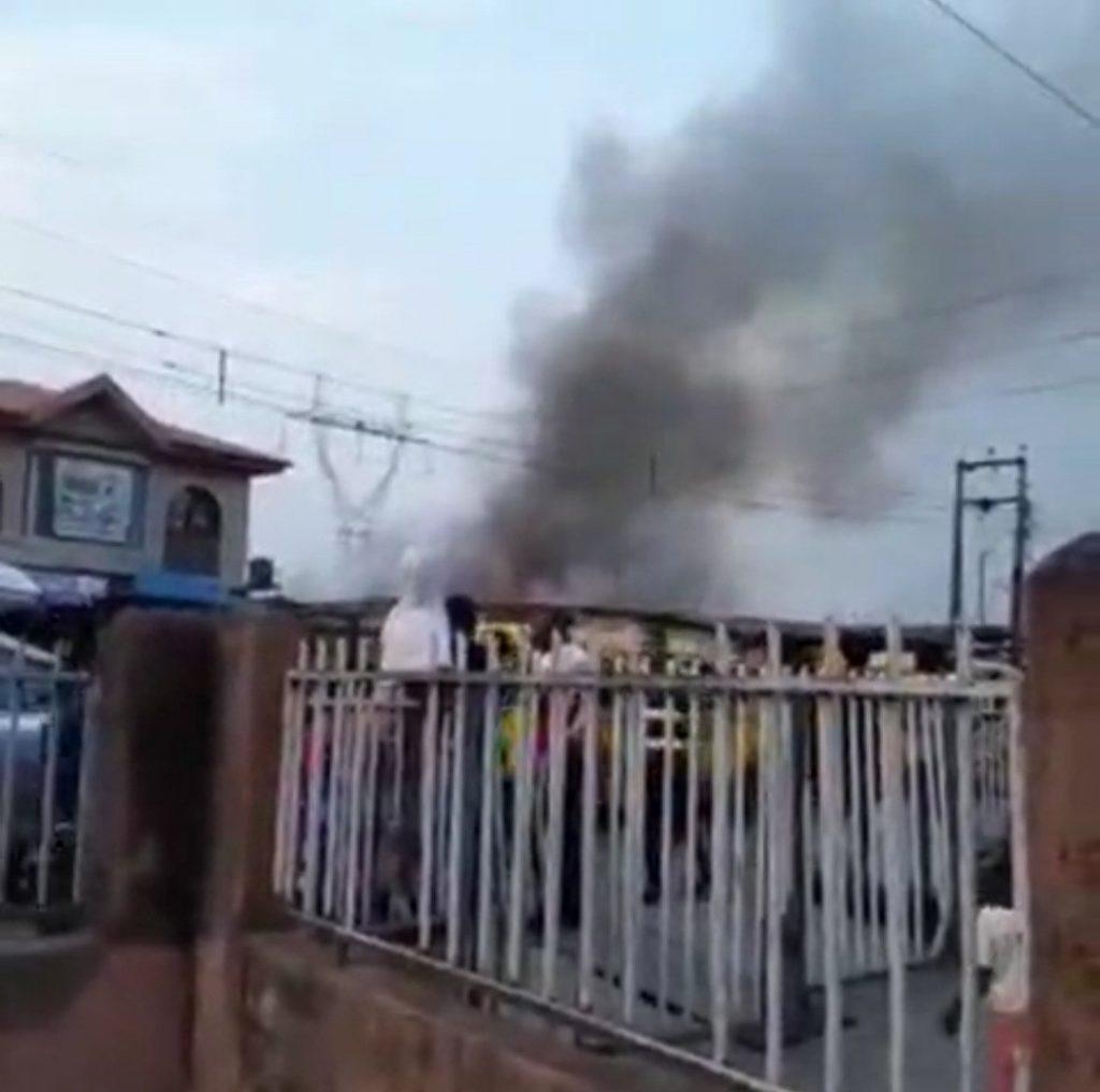 Fire Razes Shops In Surulere (Watch Video)