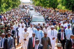 Buhari Dares Bandits, Terrorists, Treks Home From Eid Prayer Ground in Daura (Watch Video)