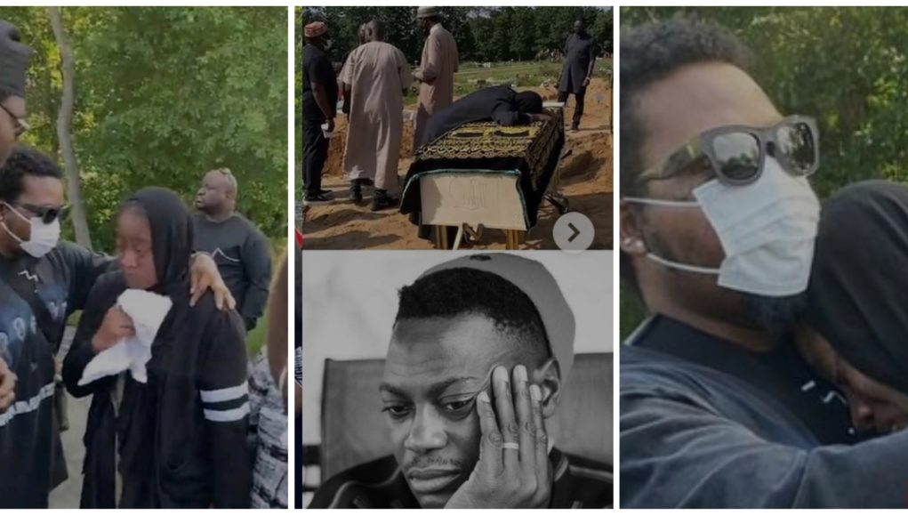 Emotional Photo of Olamide Consoling Sound Sultan's Wife in The US